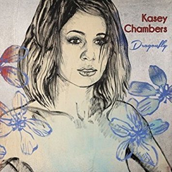 Kasey Chambers dragonfly album cover--Weird to describe, it's her face, but it's like a painting of her face.